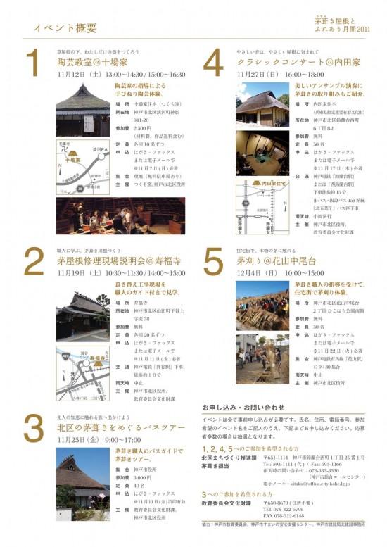 茅葺き屋根とふれあう月間2011
