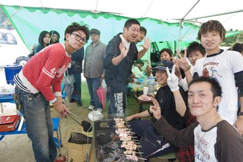 淡河そら祭り 地元の若者たち