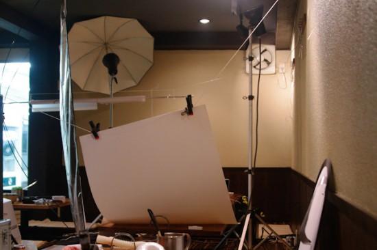 スタジオ設営中