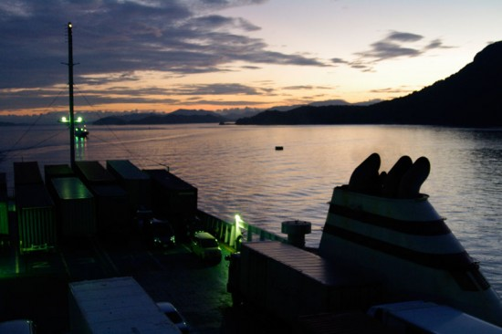 高松港の朝