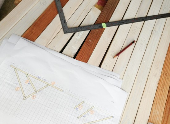 図面と木材