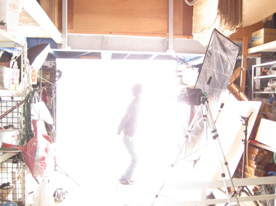 農業用倉庫で撮影