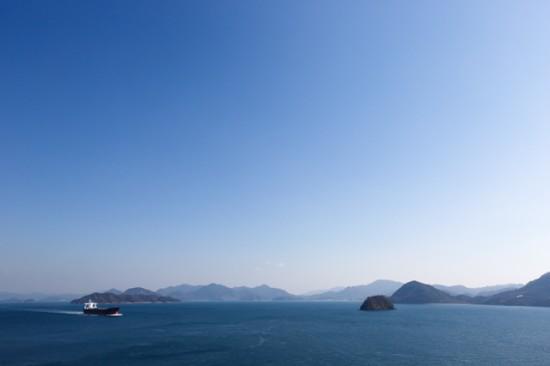 離島のホテルからの眺め