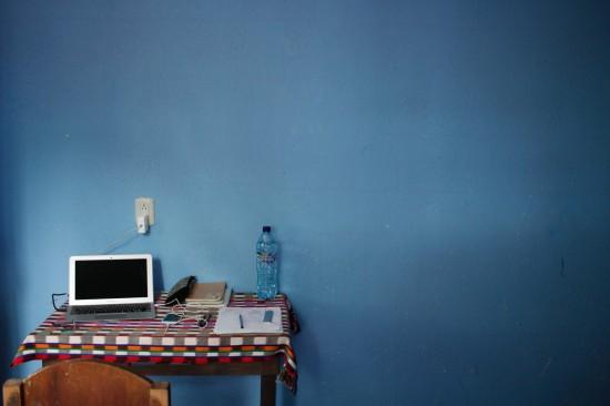 ノマドワーク中の部屋