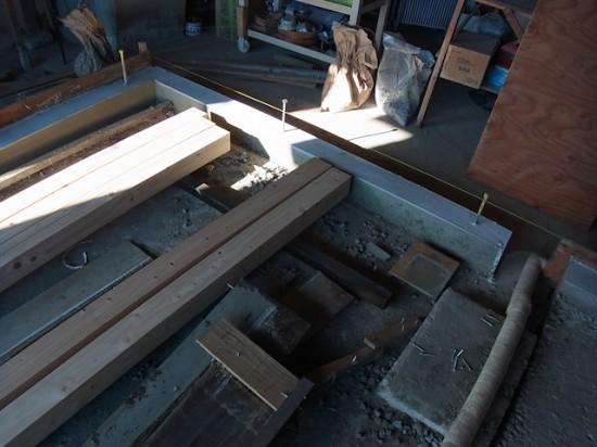 基礎のコンクリート打設